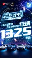 比亚迪京津新能源618电动狂欢节 2小时狂售1325台!
